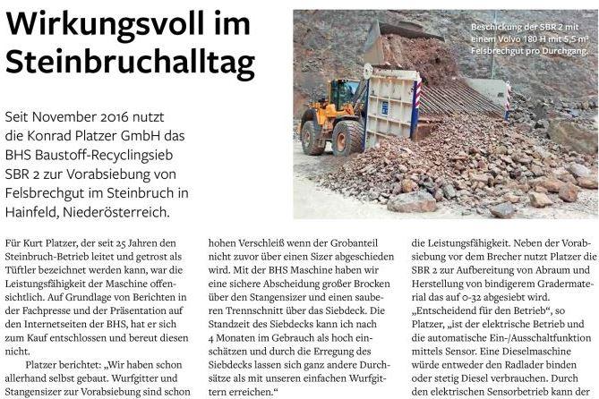 Steinbruch & Sandgrube 3/2017